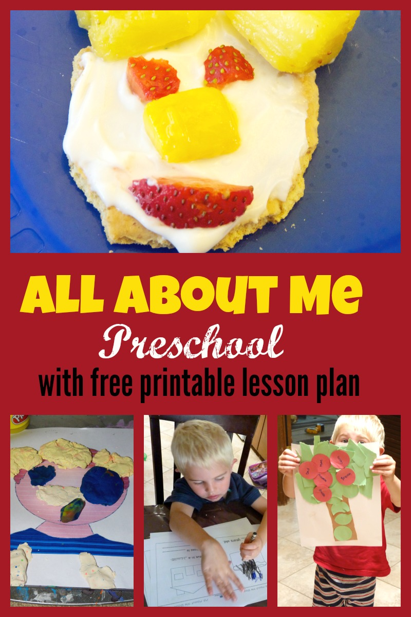 All about me preschool week more excellent me for All about me toddler crafts