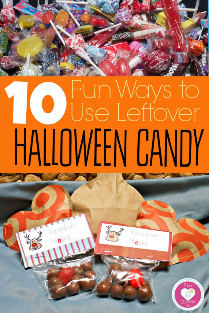 ideas for leftover halloween candy