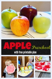 apple preschool week