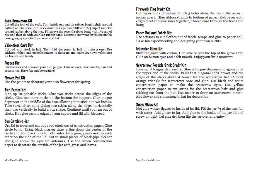 craft kit printable page 4-5