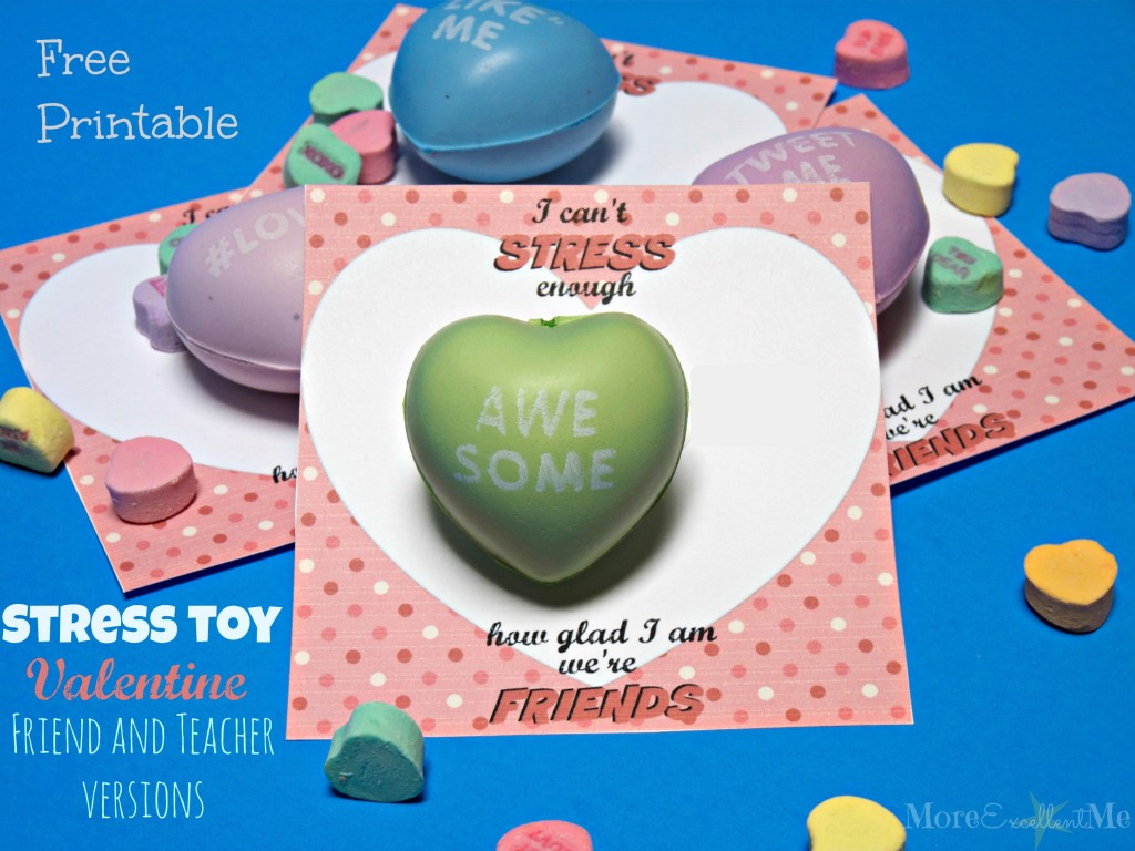 Stress toy valentines
