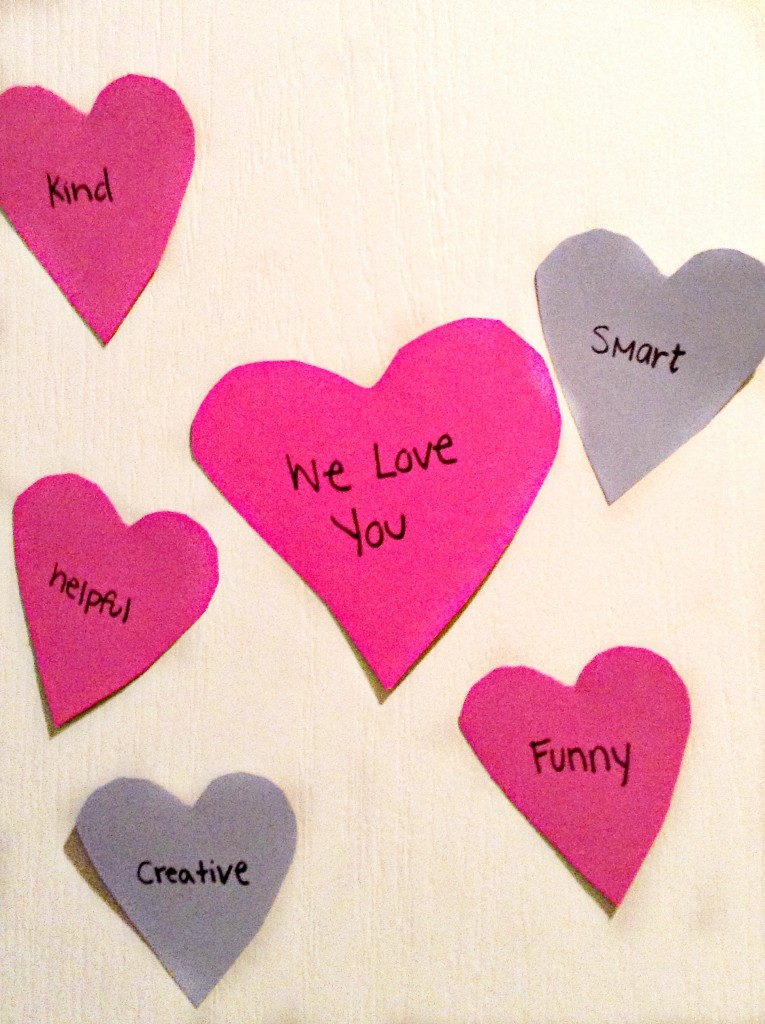 Valentines door hearts
