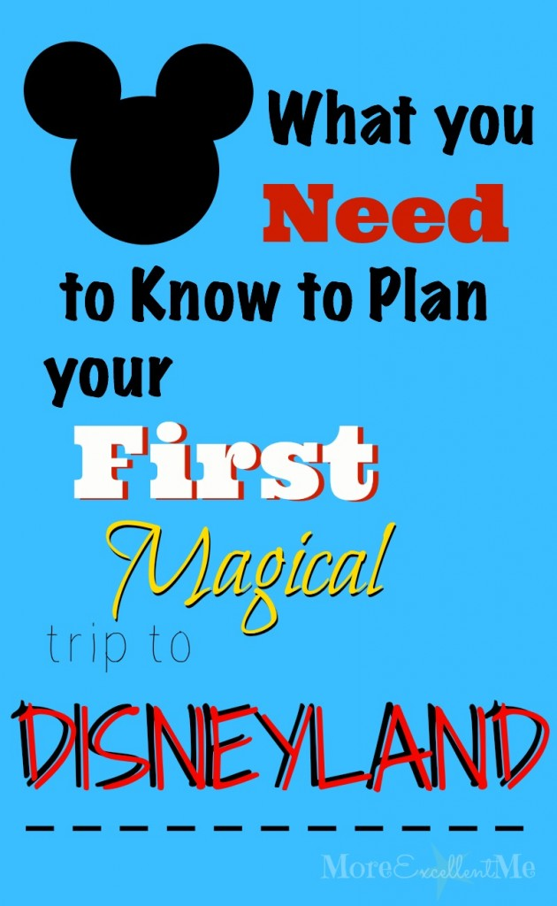 plan first disneyland trip