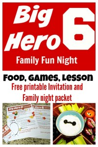 Make movie night a night to remember with this fun Big Hero 6 family night