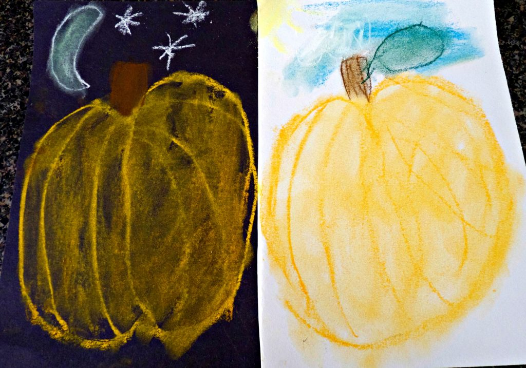 day-and-night-pumpkin-pastel-art