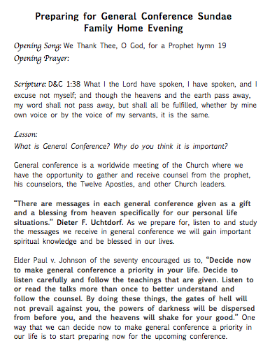 general conference fhe page 1