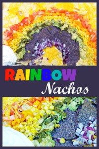 rainbow nachos fun St. Patricks food