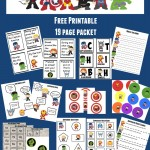 Superhero Printable Learning Packet