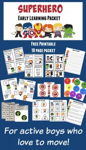 Superhero Printable Learning Packet