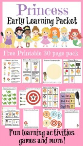 princess preschool packet