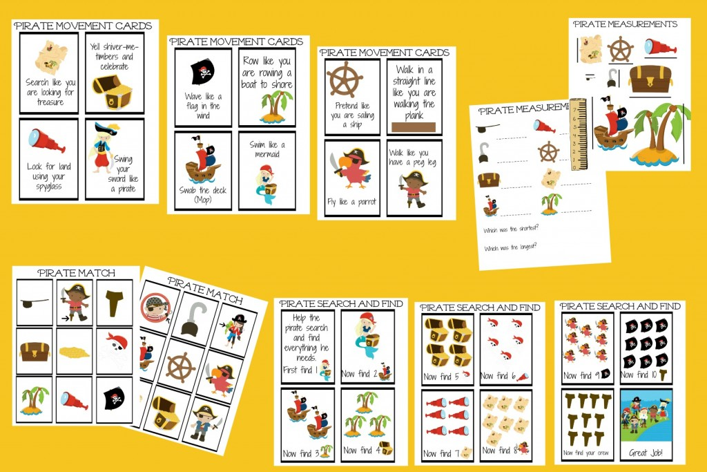 pirate early learning pack 2