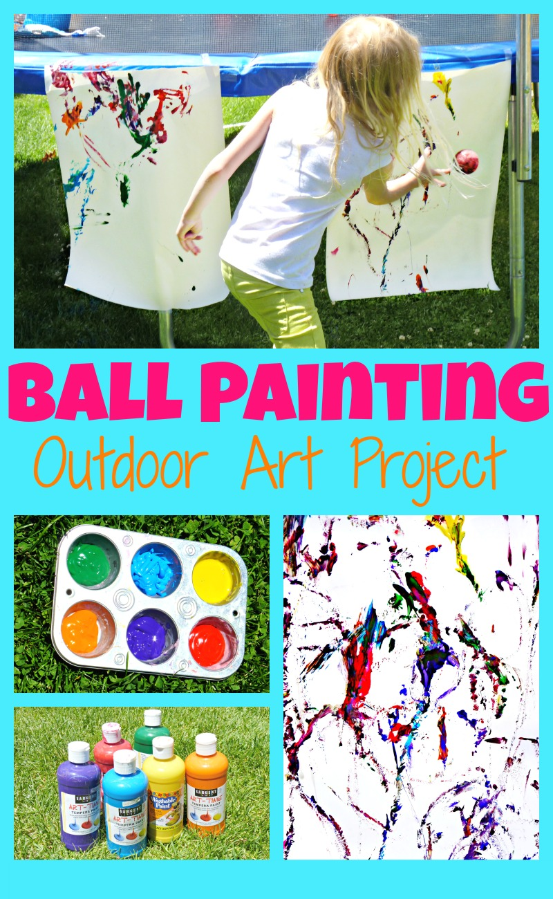 ball painting summer art project