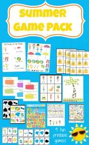 summer printable game pack