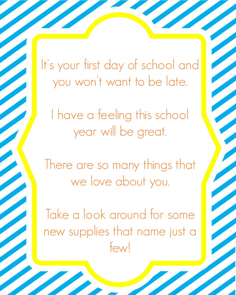 school supply hunt letter