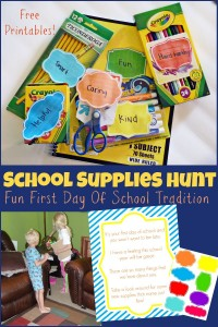 School Supply Hunt
