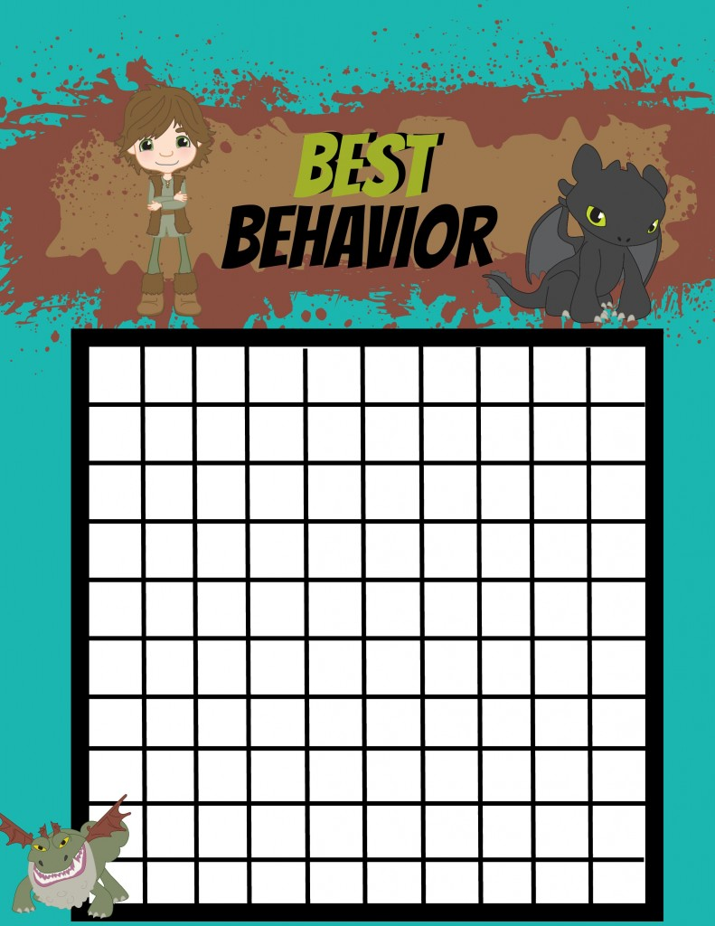 Best behavior dragon chart