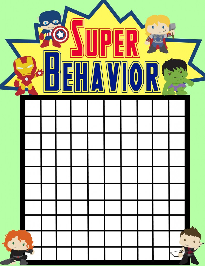 Good Behavior superhero chart