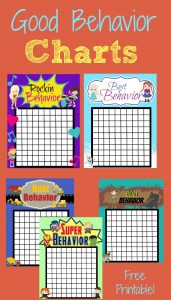 Good Behavior Rewards Charts