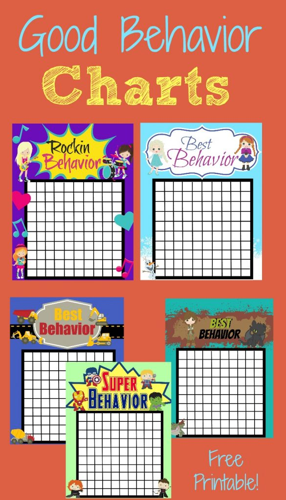 Good behavior charts