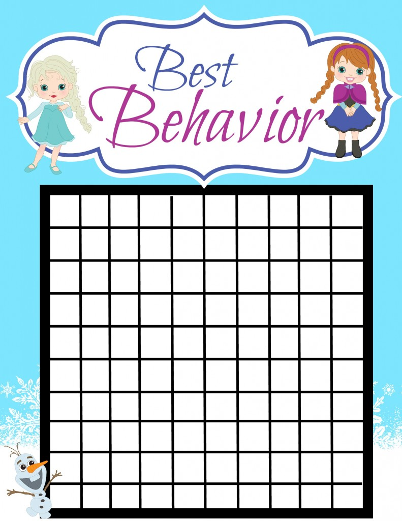 good behavior princess chart girl