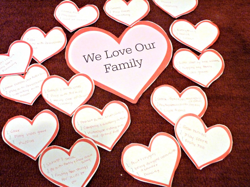 Family Love night hearts pic
