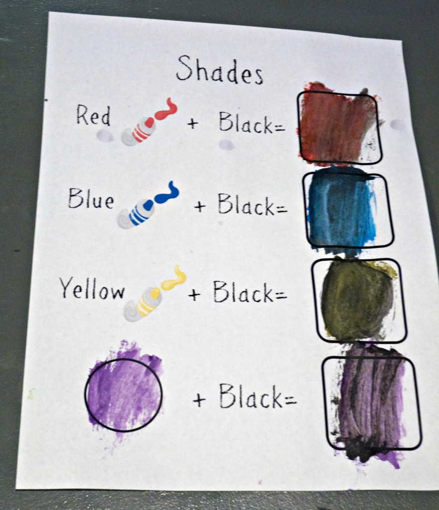 Free Printable shades color