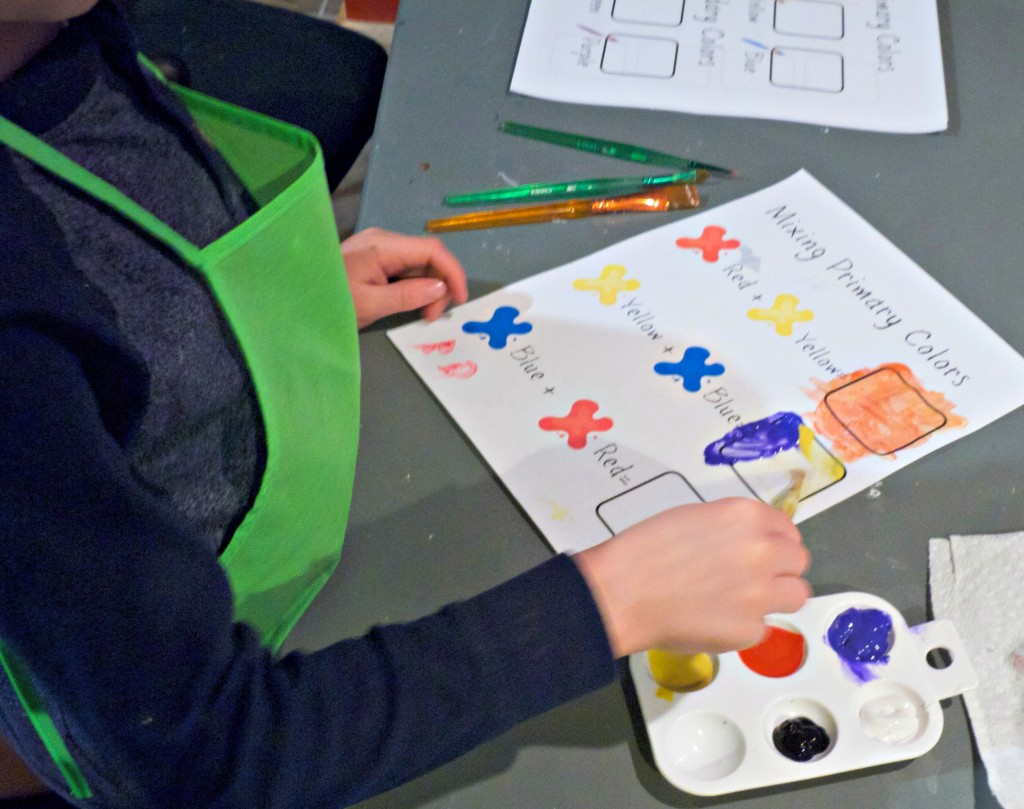 Learning about color mixing