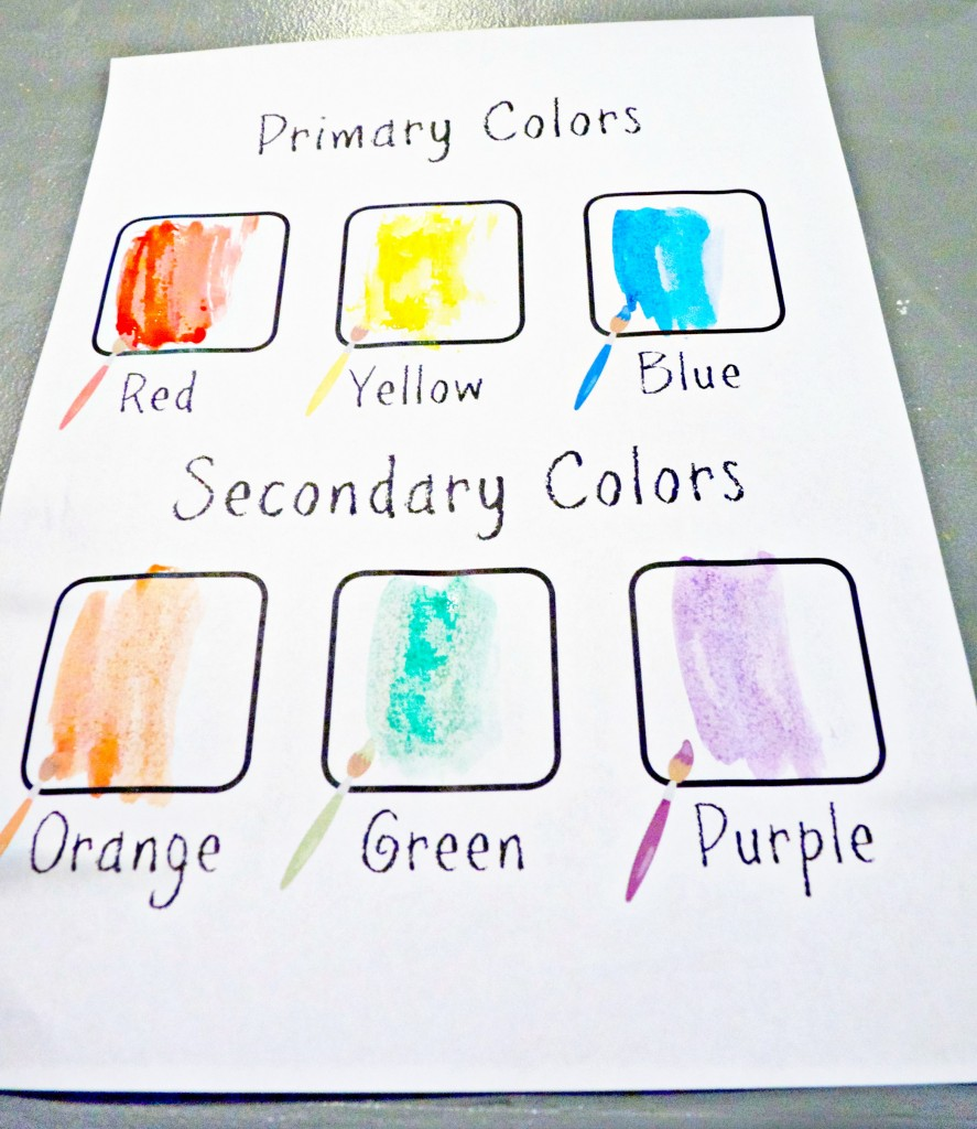 Primary and secondary colors free printable