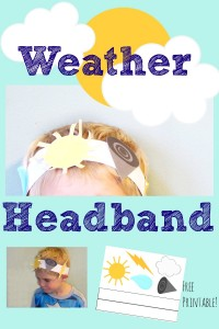 Free Printable Weather Headband