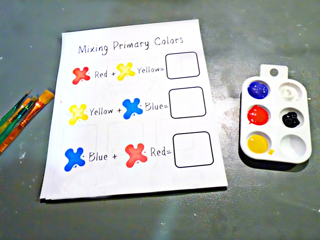 primary color mixing page