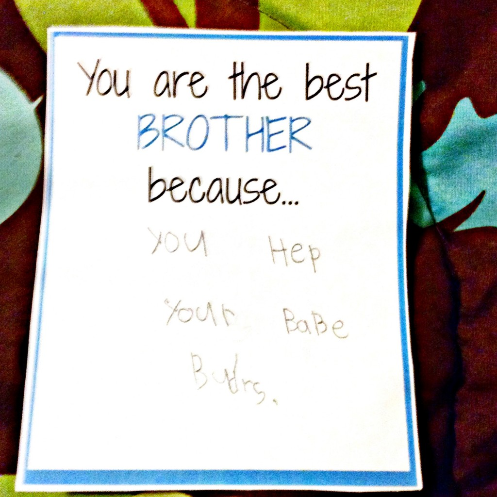 Brother Love Note