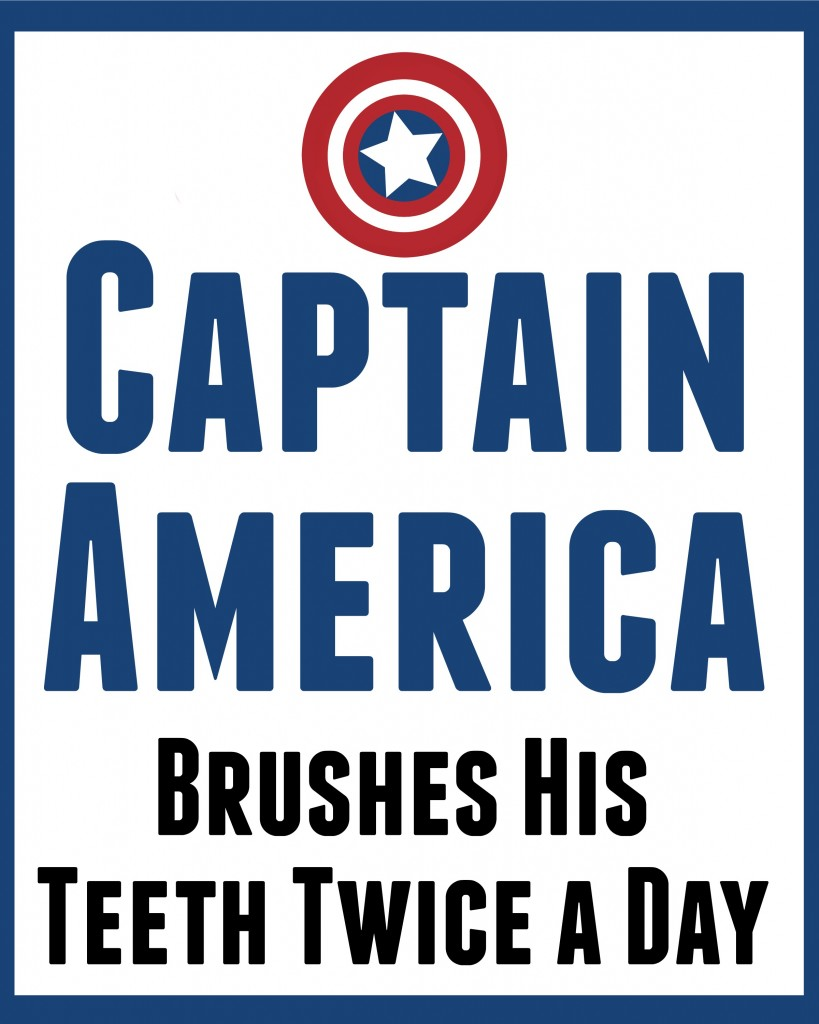Captain America bathroom art 2