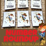 Cowboy Number Roundup Matching Game