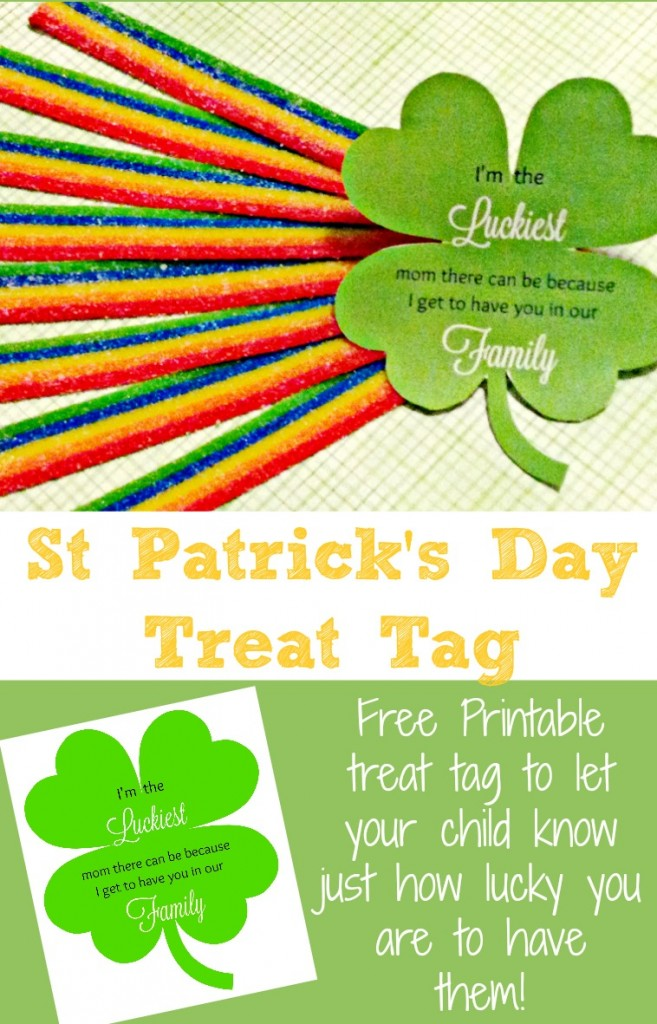 Free printable St Patricks Day clover lets your children know how glad you are they are yours