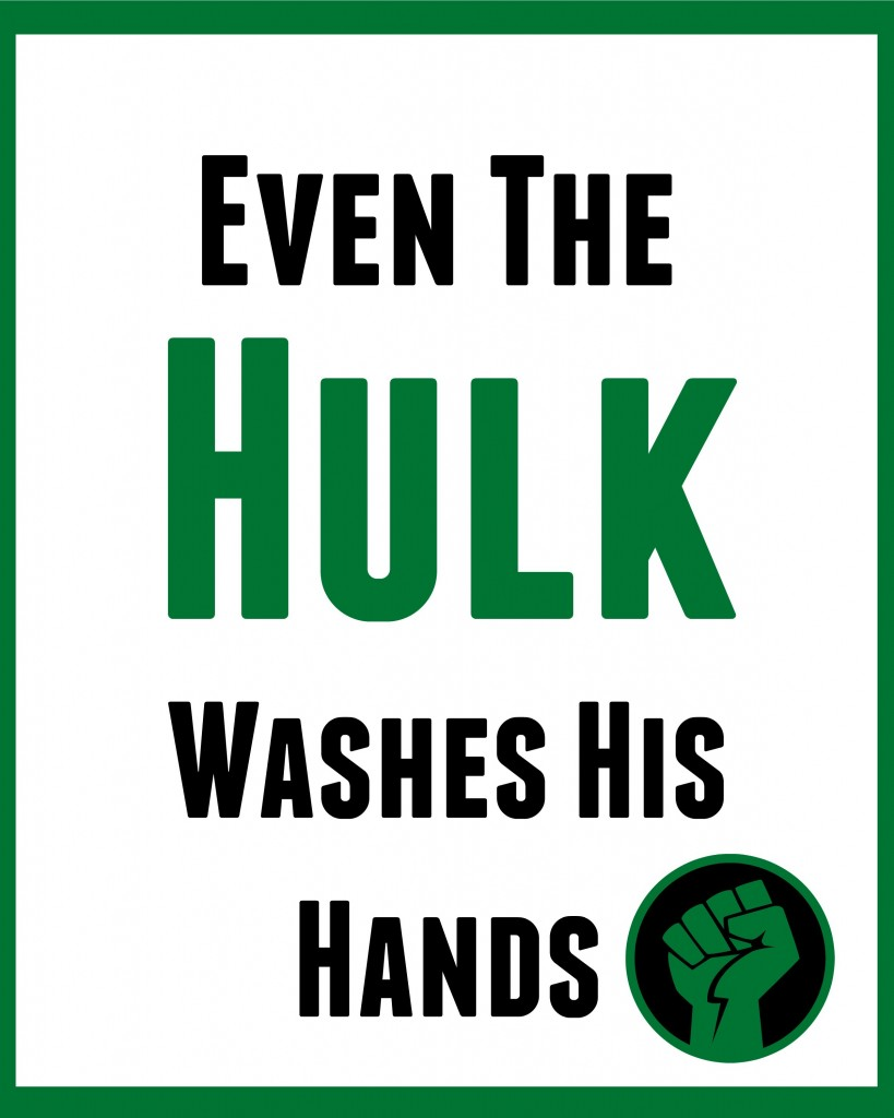 Hulk Bathroom sign
