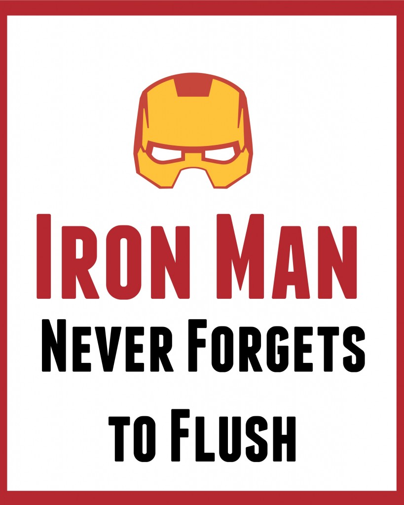 Iron Man bathroom art 2