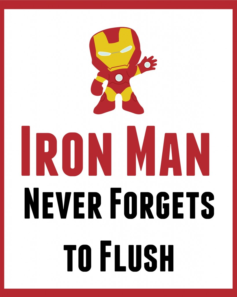 Iron man bathroom sign