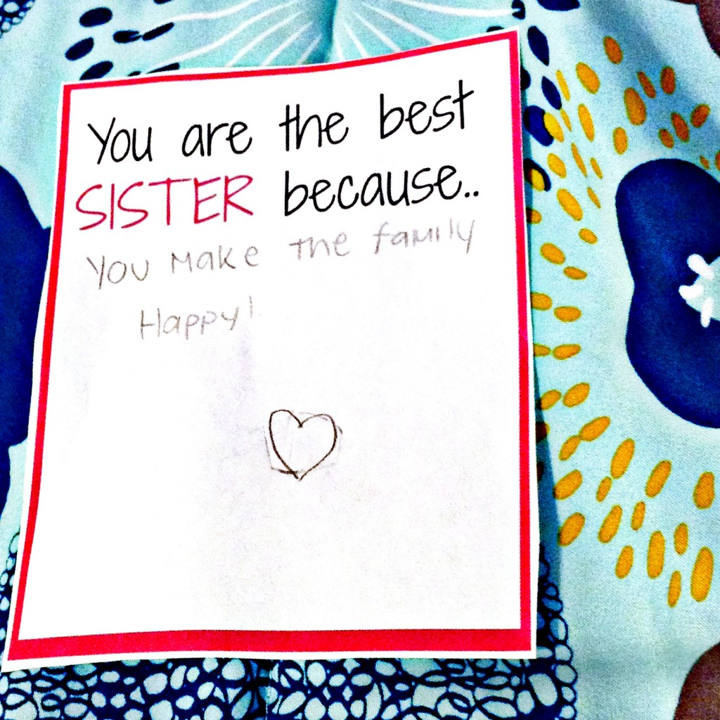 Sister Love Note