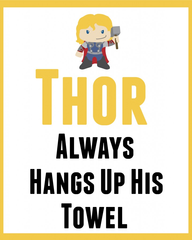 Thor bathroom art 1