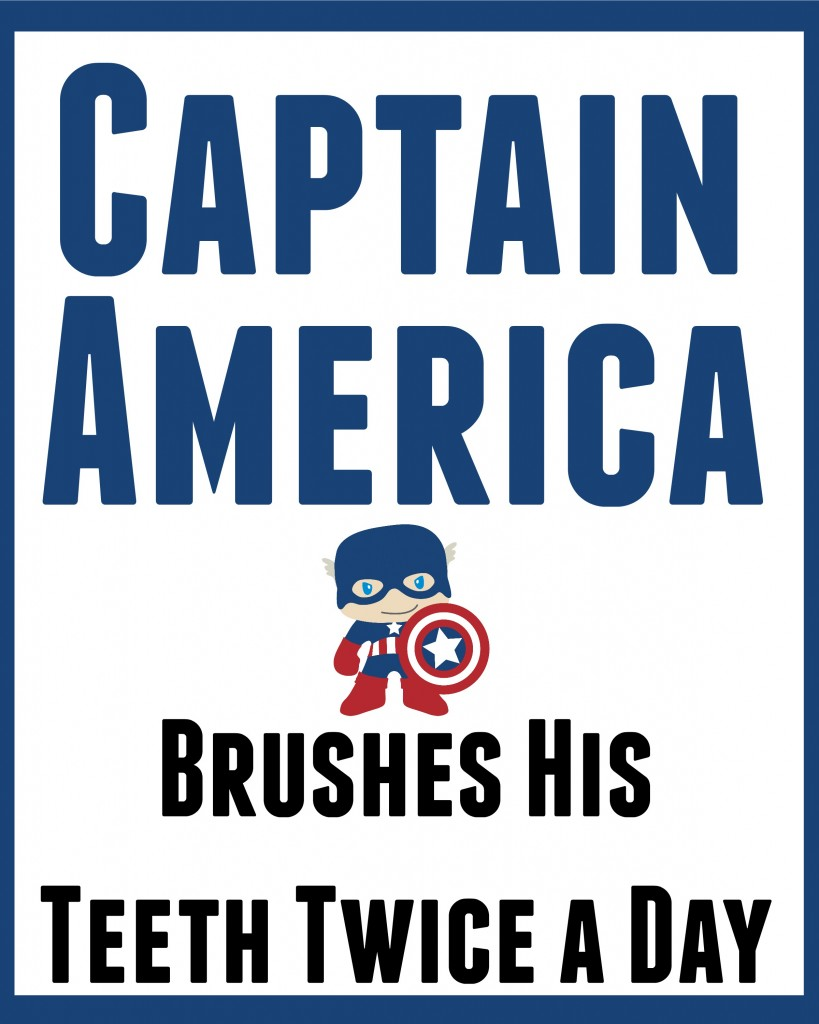 captain america bathroom art 1
