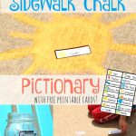 Summer Sidewalk Chalk Pictionary