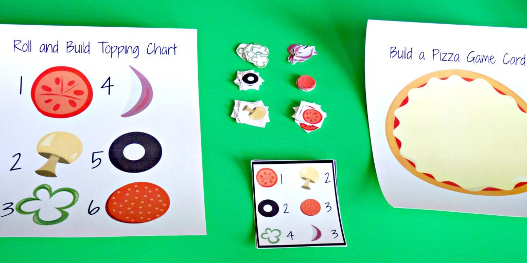roll and build a pizza game