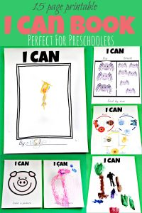 15 page printable I can book for preschoolers