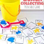 Printable Alphabet Beach Collecting Game