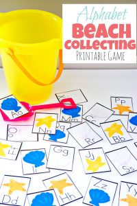 Printable Alphabet Beach Collecting Game