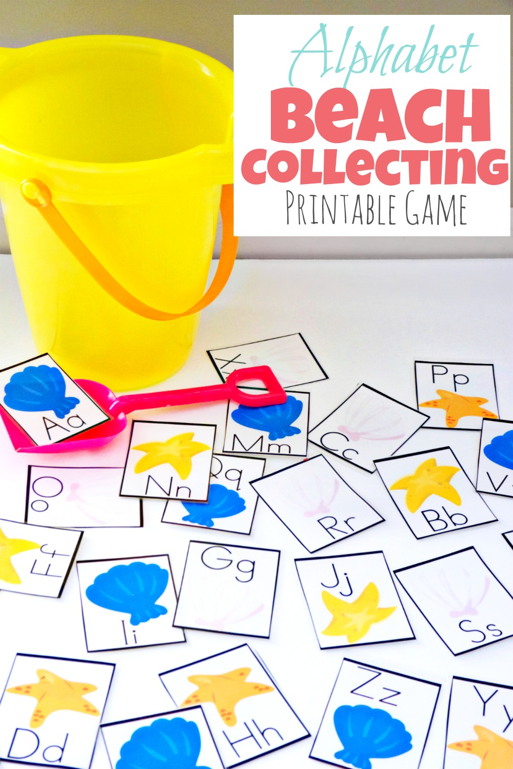 Alphabet beach collecting printable game