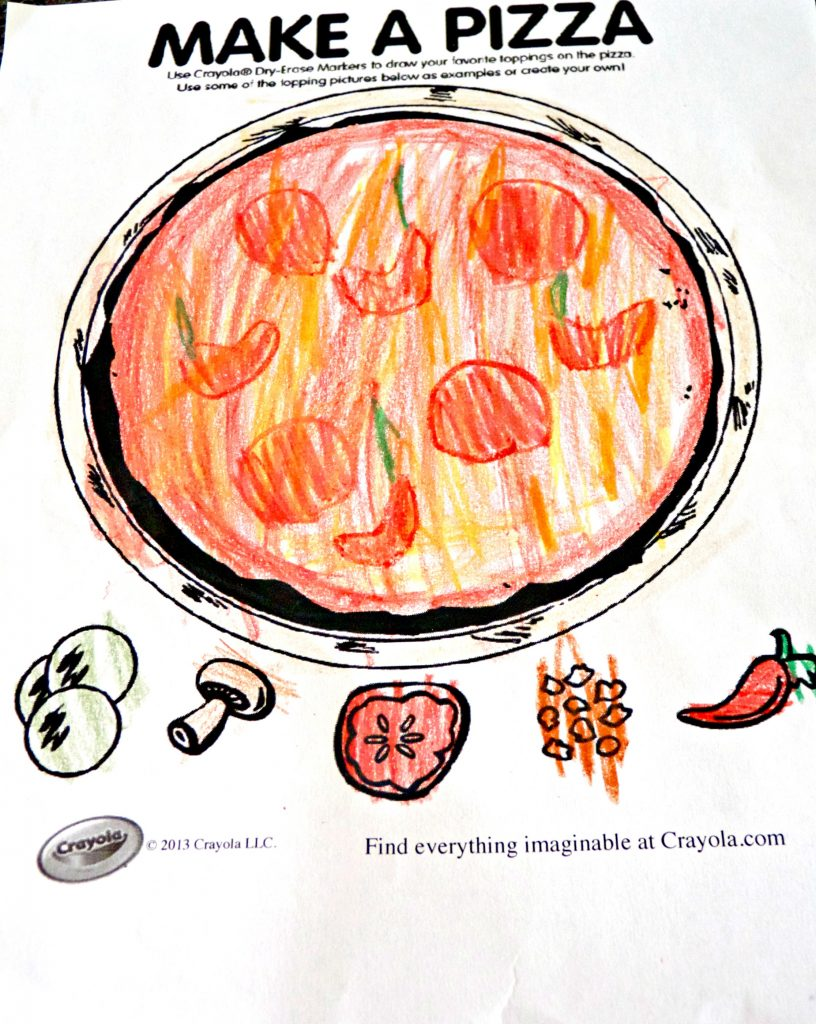Make a pizza coloring page