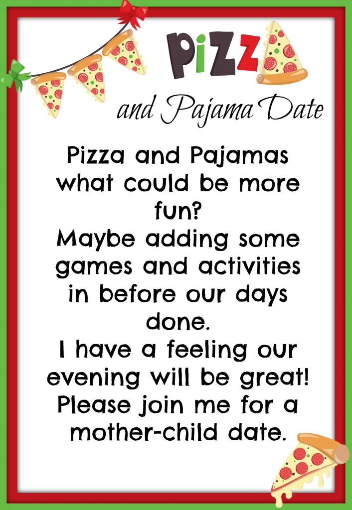Pizza date night invite