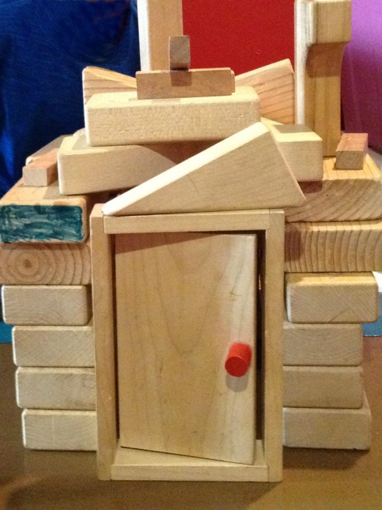 block house for my home preschool week