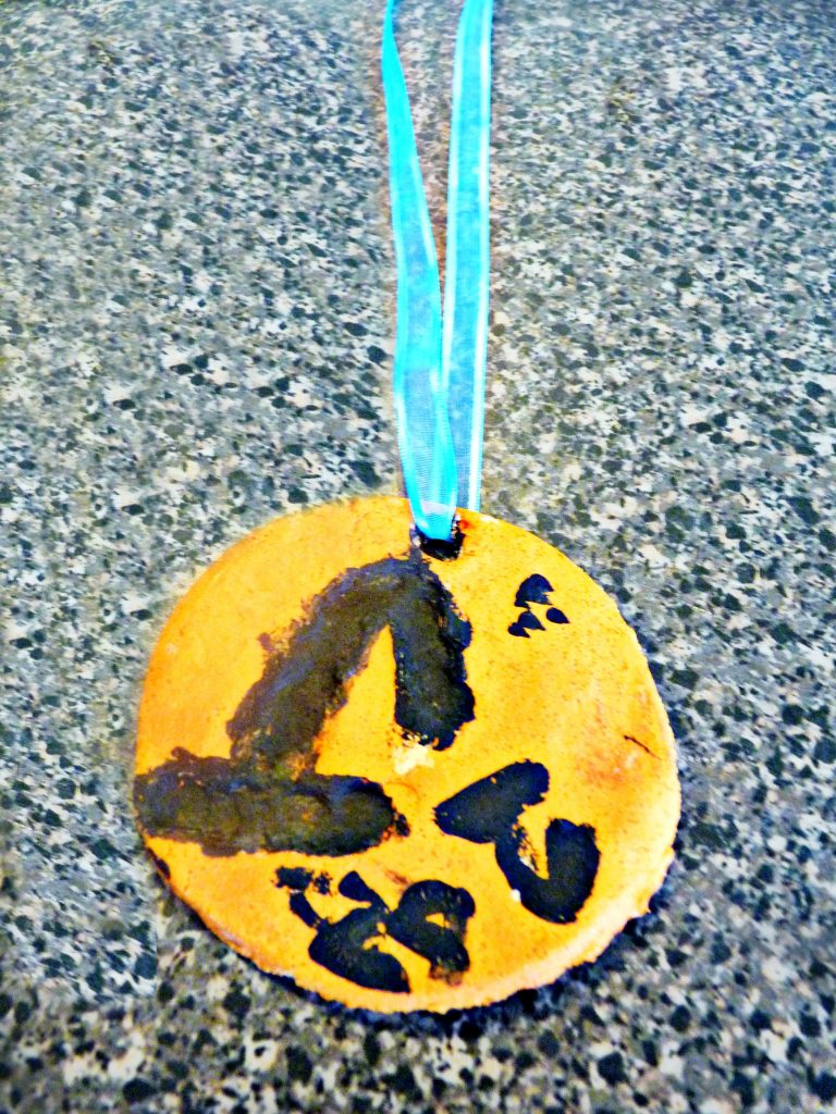 Salt dough medal